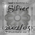 Rising Moon Designs' Silver Glass Flower Award